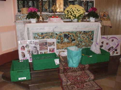 L'autel ou les enfants apporteront les offrandes