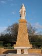 Statue de la Vierge à Rémelfang après nettoyage, le 30 avril