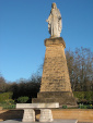 Statue de la Vierge à Rémelfang avant nettoyage, le 4 avril